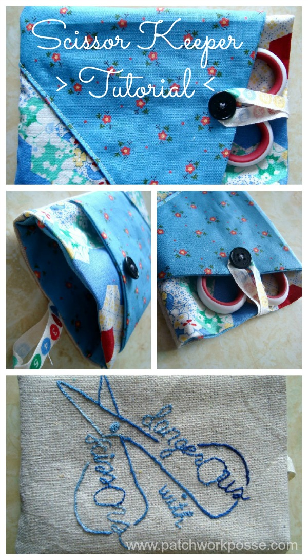 scissor keeper tutorial   patchwork posse #sewing #scissors #quilt