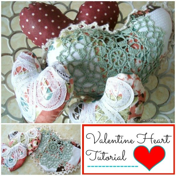 Heart Pillow Tutorial #valentines #easysewingproject Patchwork Posse