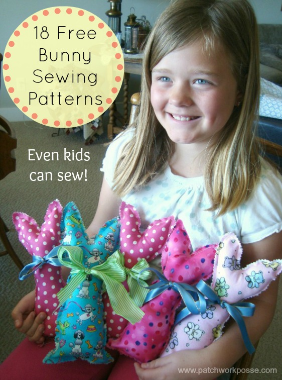 18 + Free Bunny Patterns & Tutorials | patchworkposse.com