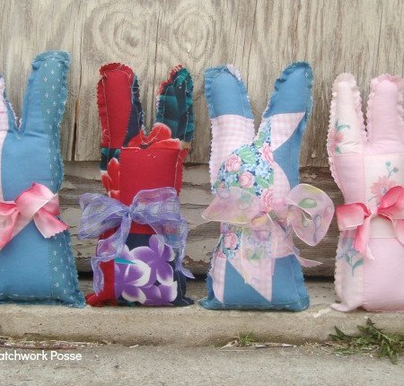 quilt block bunny pattern Patchwork Posse