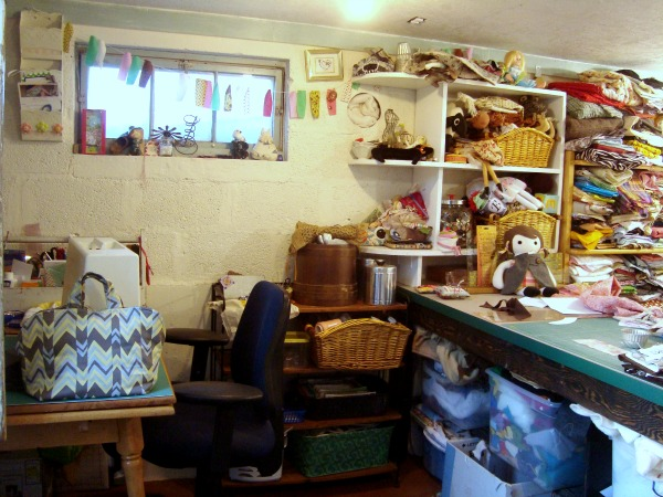 sewing studio sewing area