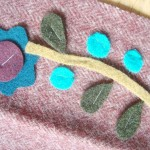 staple your wool applique