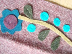wool applique- using your stapler