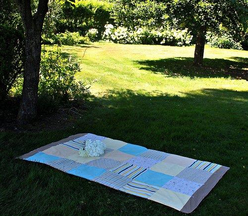 Outdoor Blanket {52 UFO Quilt Block Pick Up}