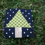 tree quilt block round robin winter wonderland