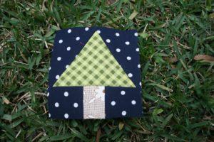 tree quilt block round robin winter wonderland