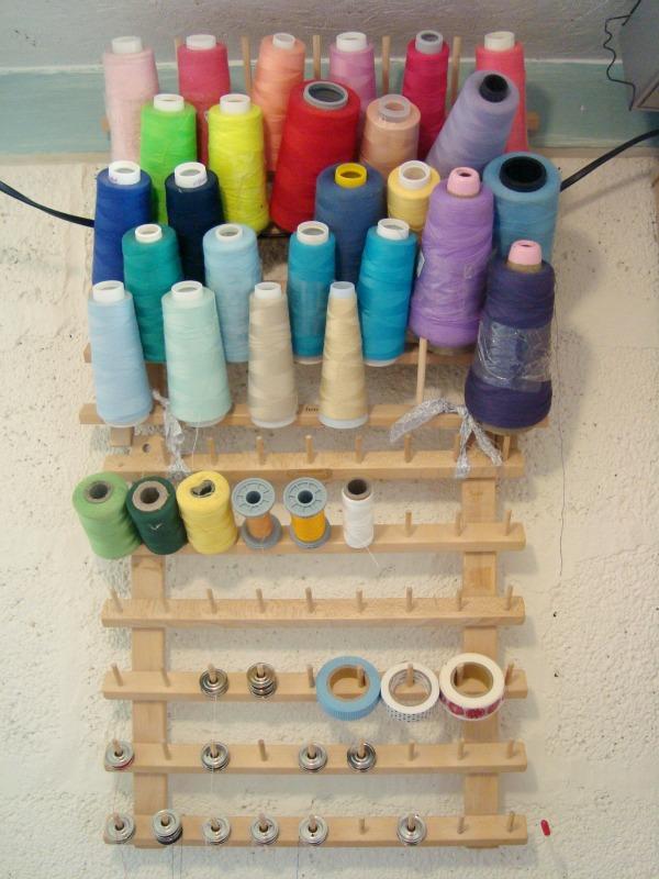 sewing studio thread organizer patchwork posse