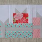 gift box paper pieced pattern round robin quilt block row- patchwork posse