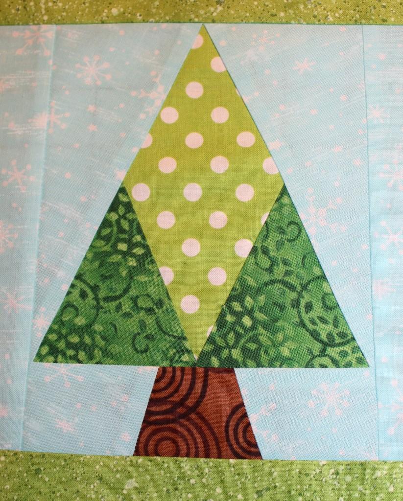 paper pieced tree quilt block