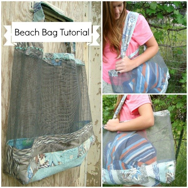 beach bag tutorial / patchwork posse