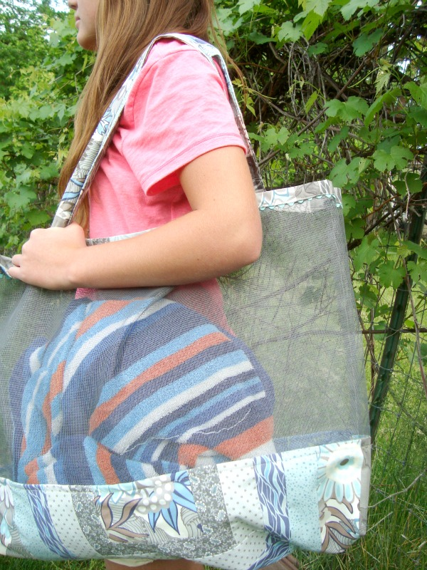 beach bag pattern / patchwork posse Great for the beach and sand