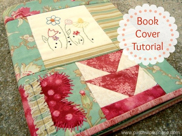 How To Make A Fabric Book Cover ~ Book cover tutorial ufo quilt block pick up