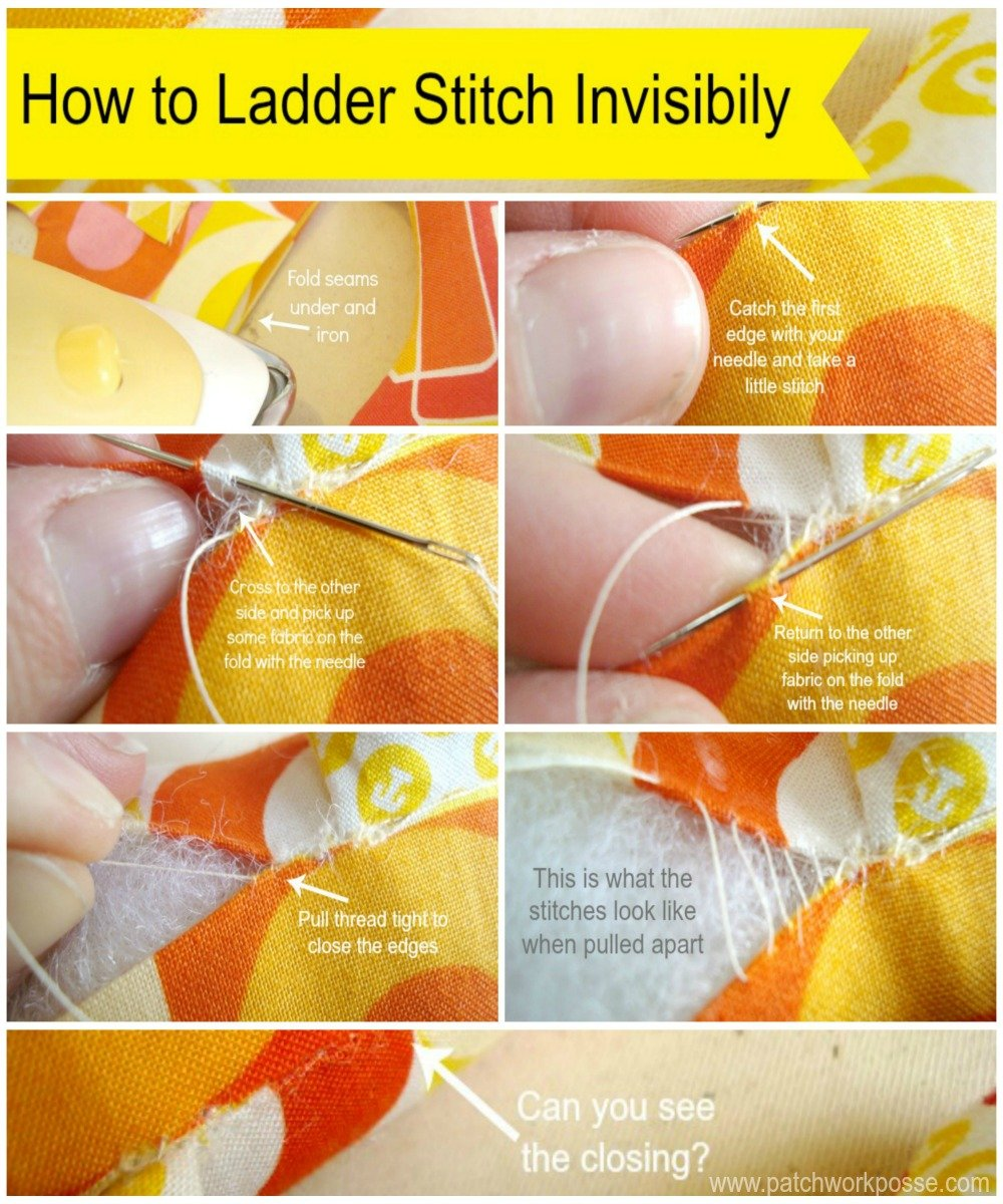 ladder stitch tutorial // patchwork posse