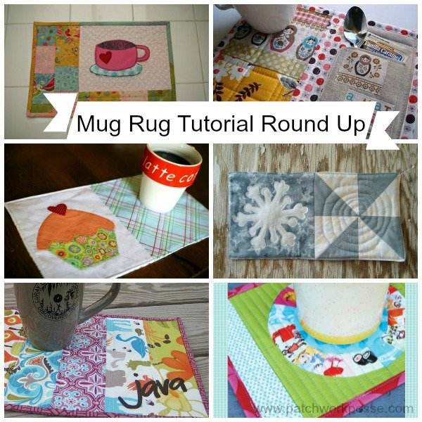 mug rug tutorial round up // patchwork posse