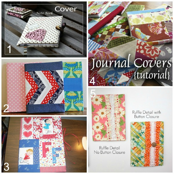 notebook cover tutorial round up
