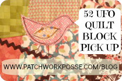 Quilt Label {52 UFO Quilt Block Pick Up}