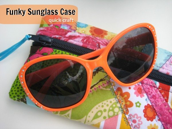 Sunglass Case Tutorial {52 Quilt Block Pickup}