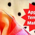applique template materials