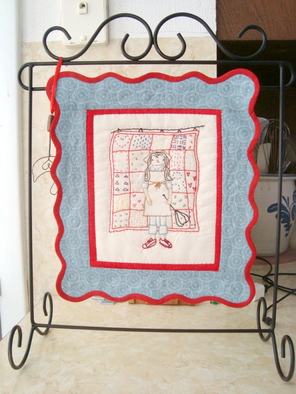 embroidery quilt block
