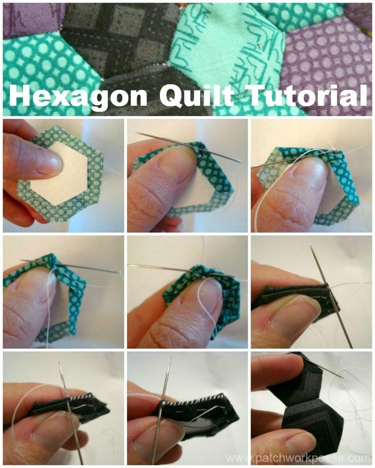 hexagon quilt tutorial / patchwork posse