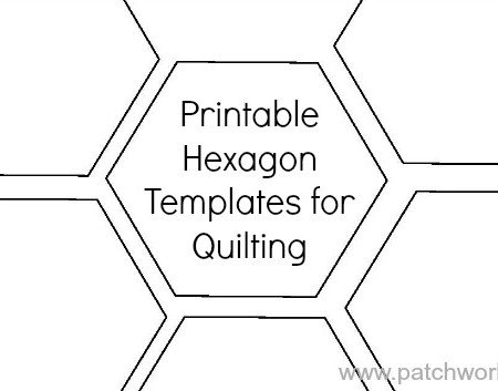 printable hexagon templates for quilting / patchwork posse