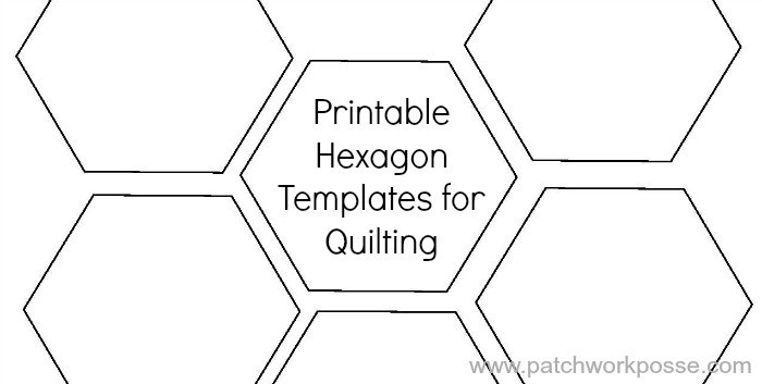 Printable Hexagon Template For Quilting -