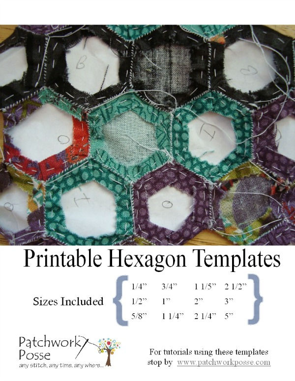 printable hexagon template for quilting - 12 Different Hexagon Templates Printable