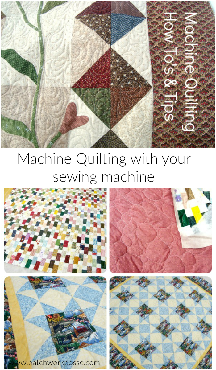How to quilt with a sewing machine. great tips that will help when I am machine quilting.
