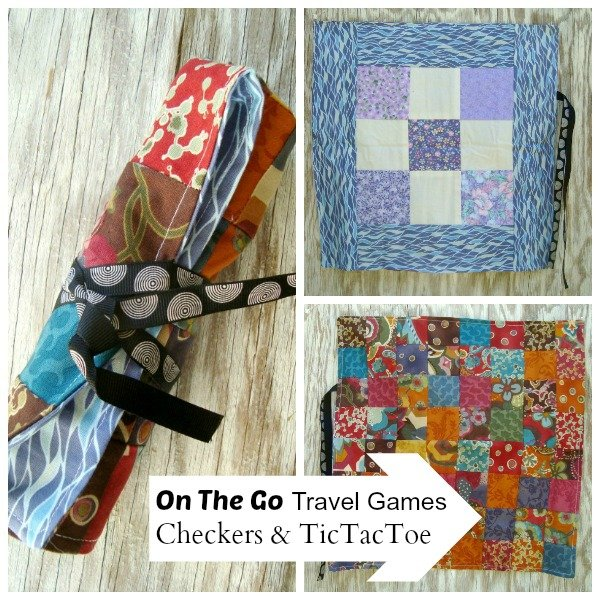 Travel Games Checkers and Tic Tac Toe {52 UFO Quilt Block Pick Up}