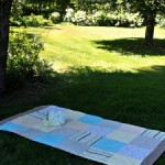outdoor blanket with Quilt Blocks / patchwork posse