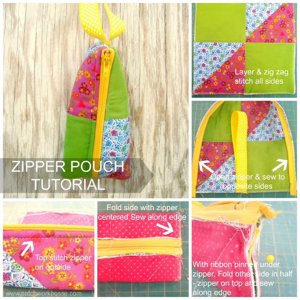 zipper pouch tutorial / patchwork posse #diy #tutorial