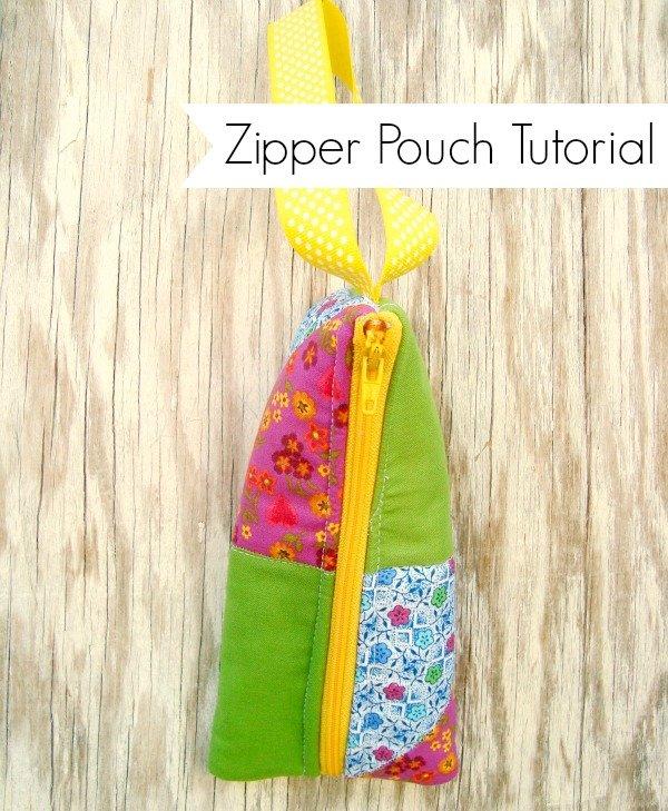 Zipper Pouch Tutorial {52 Quilt Block Pick Up}