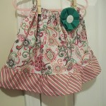 single ruffle skirt