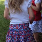 drop elastic waist skirt
