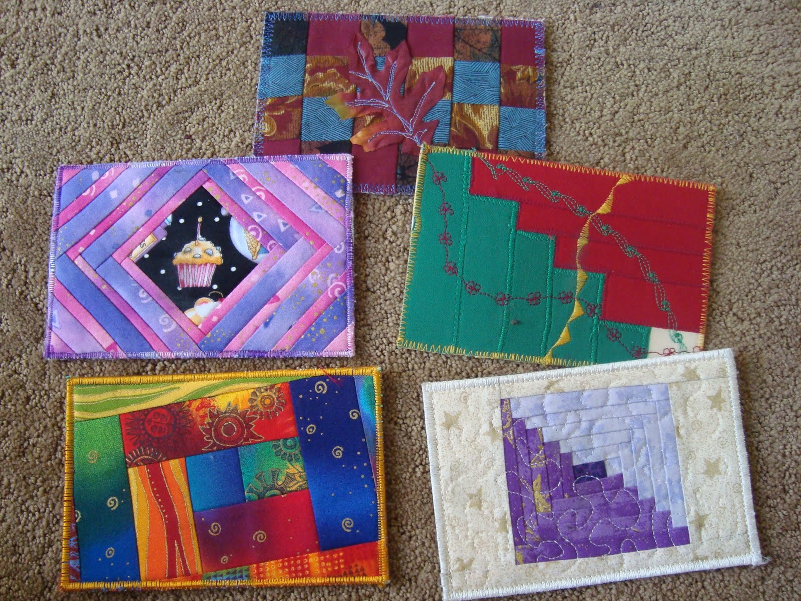 diy postcards with orphan quilt blocks / patchwork posse #postcards #diy