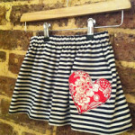 Finished recycled skirt