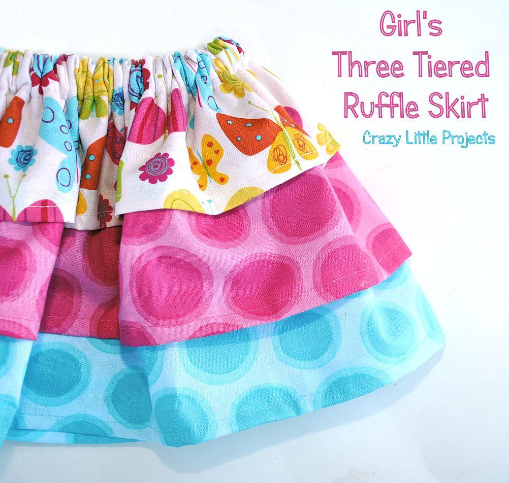 three layered skirt pattern