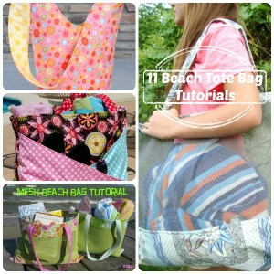 11 beach bags and tote tutorials / patchwork posse