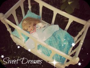 doll bed sweet dreams