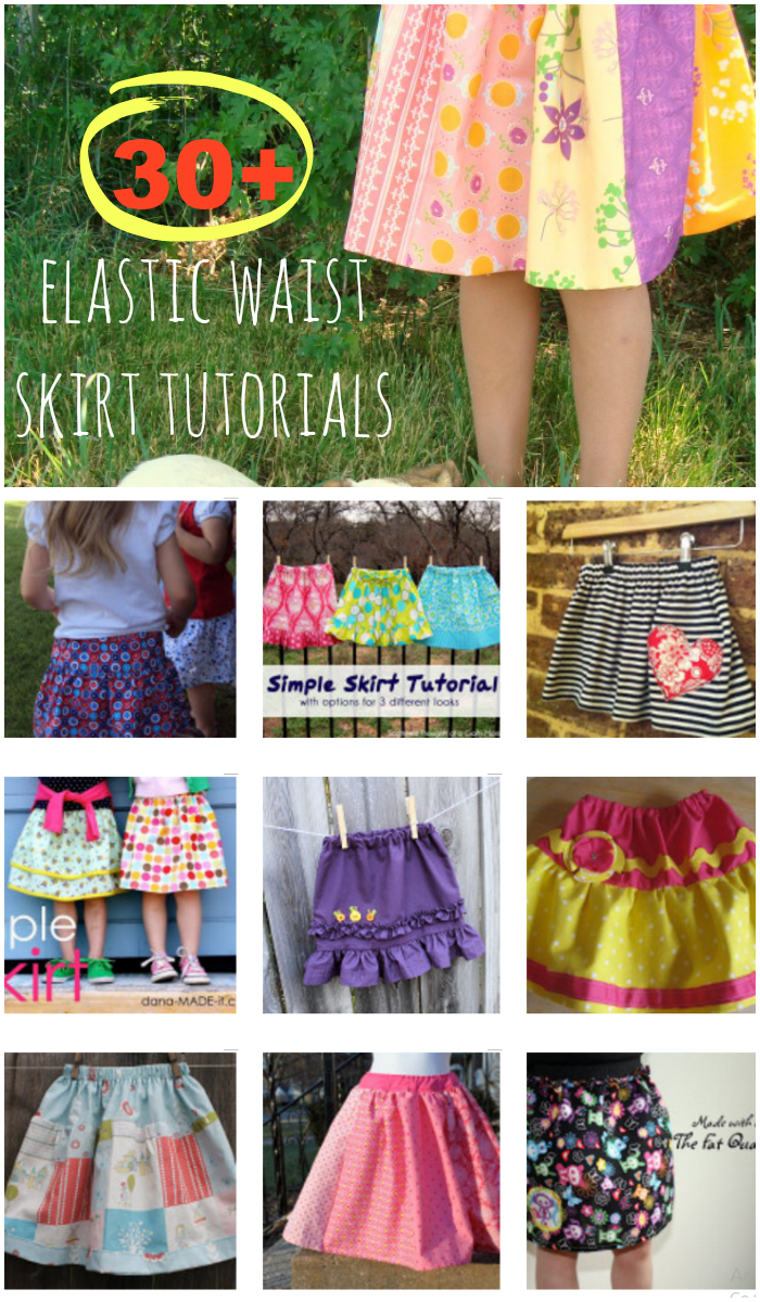 Over 30 elastic waist girl skit patterns! Super simple to sew and great for any kind of weather. I really like the patchwork one or the one with ruffles!