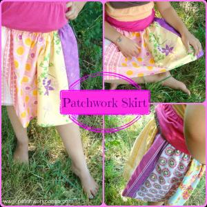 patchwork skirt tutorial- #patchwork #summerskirt / patchwork posse