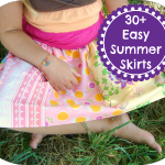 Over 30 tutorials for Summer Skirts for Girls. Easy Elastic Waist Skirts / patchwork posse #tutorial #summer