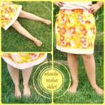 elastic waist skirt tutorial for girls. easy skirt to sew / patchwork posse