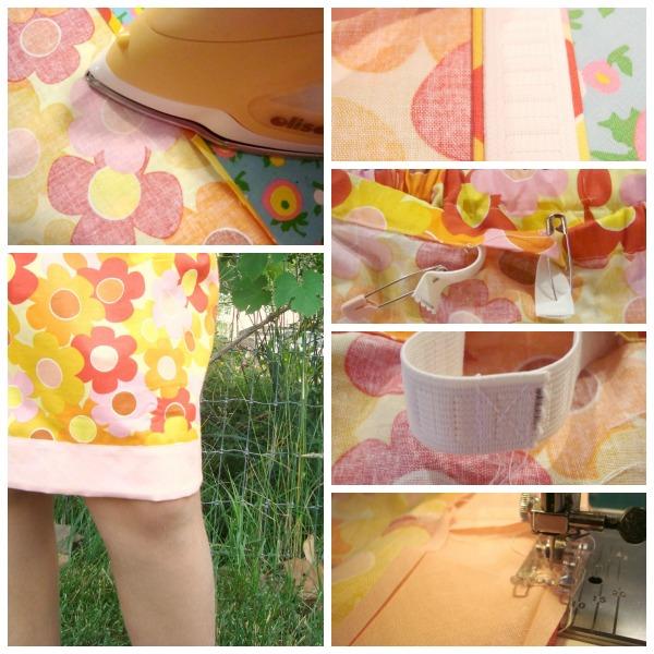 elastic waist skirt tutorial for little girls / patchwork posse