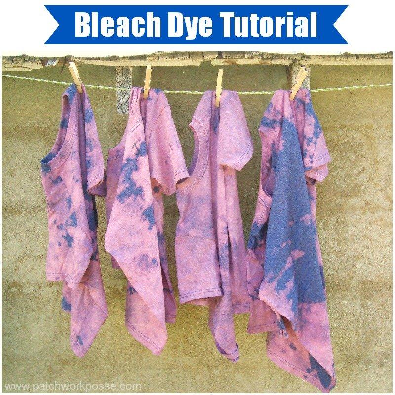 Summer Day Camp Bleach Tie-Dye Shirts