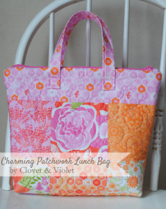 lunch bag cover by clover and violet