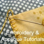 Applique and Embroidery Stitches Tutorials