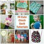 14 Cute Cinch Sack Tutorials