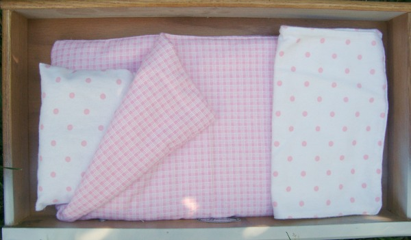doll bedding for trundle doll bed / patchwork posse
