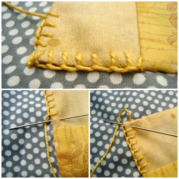 embroidery stitch button hole tutorial for applique / patchworkposse.com